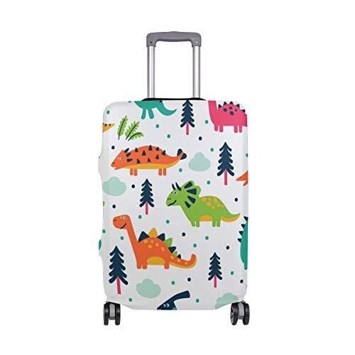 ALINLO Cartoon dinosaurio patrón equipaje cubierta maleta maleta viaje protector para 45 – 32 pulgadas