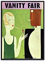 壁アートの装飾キャンバス絵画ヴォーグ写真ヴィンテージポスターと版画絵画レトロアートファッション女性ポスターモダンな家の装飾40x60cmフレームなし