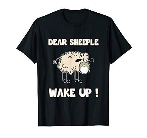 Schlafschafe wacht auf Viren Maulkorb Querdenken T-Shirt