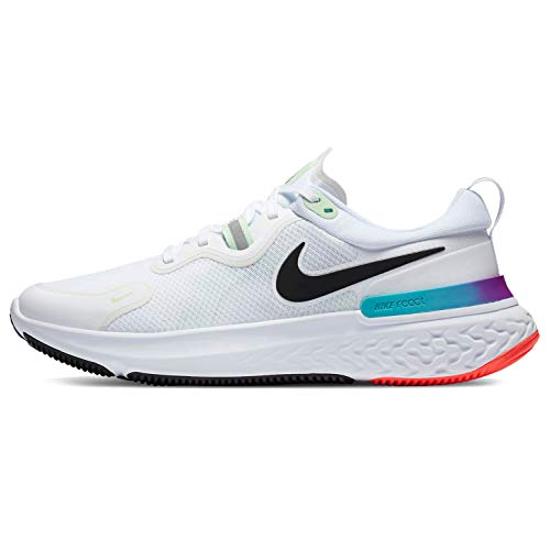 Nike React Miler, Zapatos para Correr para Hombre, White/Black/Vapor Green/Hyper Jade, 43 EU