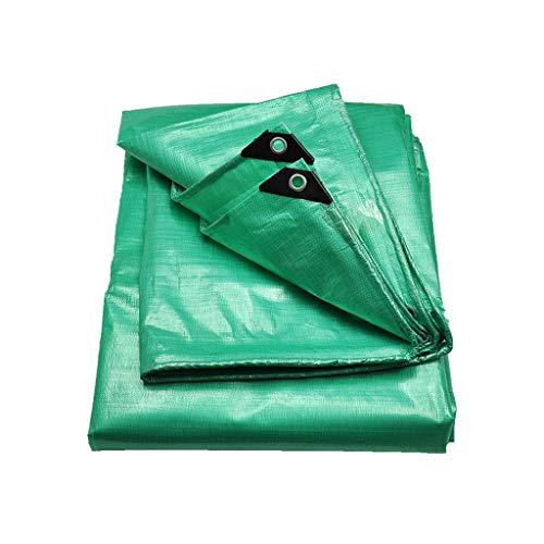 Toile imperméable épaisse de protection solaire épaisse de bâche de protection de bâche, toile extérieure de poncho de parasol, pêche verte (taille : 3×4m)