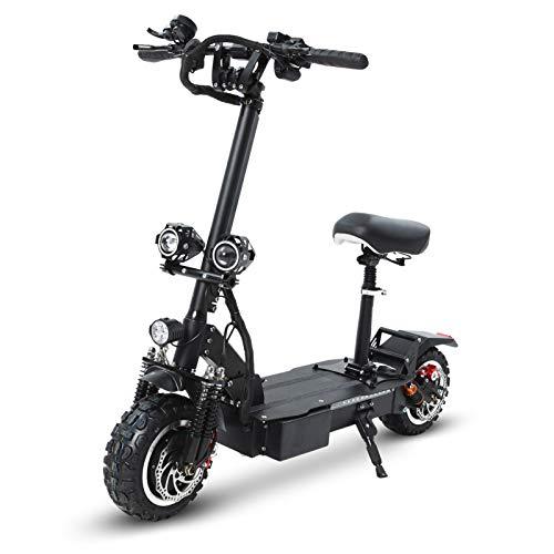 GUNAI Scooter Eléctrico Todoterreno Velocidad Máxima de Absorción de Choque Delantera y Trasera de Doble Motor de 3200 W 75 km/h con Pantalla Multifuncional