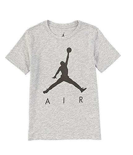 Nike AIR Jordan Boys' Jumpman T-Shirt (Grey/Black, Large)