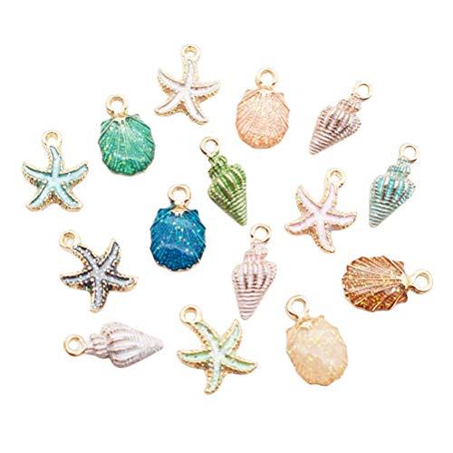 SUPVOX 30 unids encantos de Metal decoración náutica Vender Forma de Estrella de mar Colgantes Accesorios DIY Collar joyería Que Hace Fuentes
