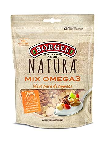Borges Natura Cocktail Variado de Nueces Crudas: Pecana, de California y de Macadamia, 100g