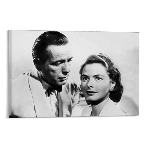 DRAGON VINES Homenaje a la película Romance clásica Casablanca, póster e impresiones en lienzo, comedor, dormitorio, baño, 50 x 75 cm