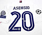 ADI Marco ASENSIO#20 Jersey Camiseta DE FÚTBOL Champion League Patch White Color (S)