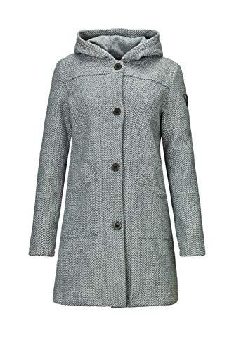 G.I.G.A. DX Damen Kajimara Strick Parka Mit Kapuze/Mantel Mit Seitlichen Eingrifftaschen, grau, 42