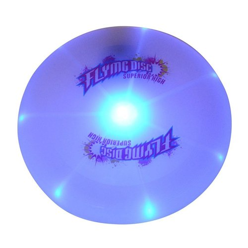 FUDOSAN LED Flying Disc Ultimate Light Up Sport Disc Glow in The Dark Durable and Long Flight, 127 Gram (Dia 9.8 inch)