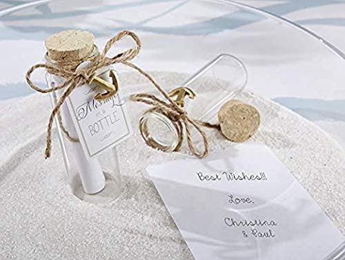 Botella de corcho con mensaje para decoración de boda, botella de cristal transparente, mini viales de corcho (paquete de 30 unidades)