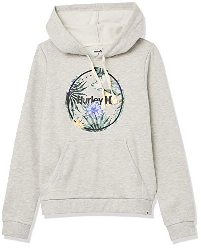 Hurley W Crush Fleece Pullover Sudadera, Mujer, Grey Heather, S