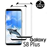 Galaxy S8 Plus Screen Protector [2-Pack], Tempered Glass Screen Protector [Full Coverage][Case-Friendly][No Bubbles][Easy to Install] Screen Protector Compatible with Samsung Galaxy S8 Plus