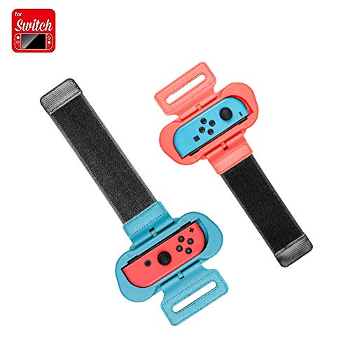Coltum Joy Con Handgelenksband Tanzgriff Grips ,Einstellbare Elastische Armband Joy Con Grip kompatibel für Nintendo Switch Just Dance 2019 2020/Fitness Boxing/Mario Tennis Ace, (2er Pack)