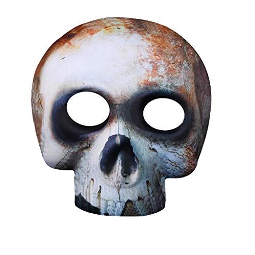 Dyljyf Halloween-masker masker masker gaasfeest masker grijs sjabloon Night Party carnaval maskerade clown masker