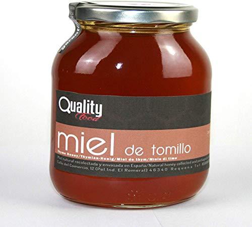 Miel pura de abeja 100{300ba9c675bcb8ce5db3ee8efc4e03986d03b6783478fcf85d9d30d9a2f77f3b}. Miel cruda de Tomillo. 1 Kg. Producida en España. Sin pasteurizar ni calentar. Artesana de alta calidad. Tarro de cristal. Gran variedad de exquisitos sabores.