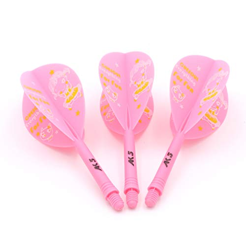 Black Scorpion CUESOUL ROST Integrated Dart Shaft and Flights Pear-Teardrop Shape,Set of 3 pcs Cute Girl Pattern