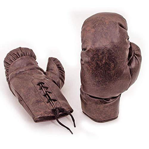 Nuevo Vintage Piel de Imitación PU Guantes Boxeo Retro de 1930 Estilo Cosido a Mano 10oz