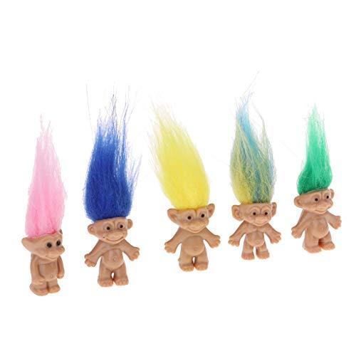 ドールメーキング トロール人形 ラッキードール アクションフィギュア 飾り 全5個 2色 - #2