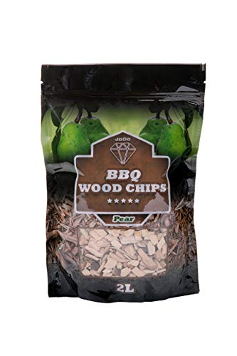 JoDo BBQ Smoking Wood Chips - 100% Natural Hardwood Chips in Alder, Oak, Apple Flavour Perfect for Chicken, Pork, Fish, Lamb, Beef, Game Meat and Vegetables (Pear)