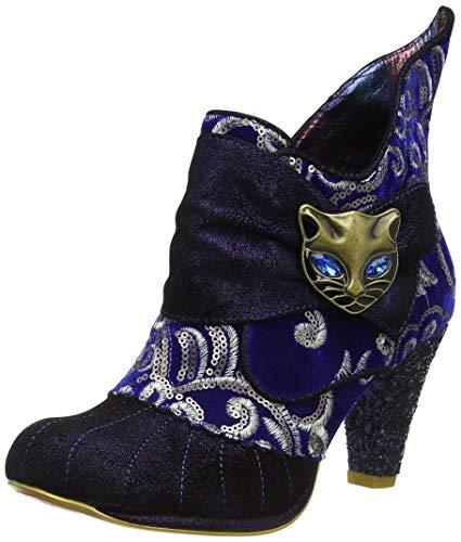 Irregular Choice Damen Miaow Stiefeletten, Blau Blau Metallic AS, 40 EU