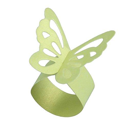 pu ran Papier Schmetterling Serviette Ringe Hochzeiten Event Party Supplies Tisch Abendessen Decor grün