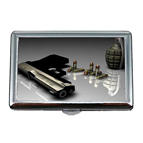 Portafoglio portasigarette, una pistola in tempo, Portasigarette/Scatola, pistola migliore, Porta biglietti da visita Porta biglietti da visita in acciaio inossidabile