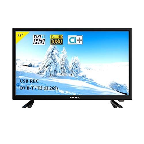 MAJESTIC tvd-222 HD t2-s2 Full HD LED 22' USB Rec 12v Cam Ci+HD Classe a