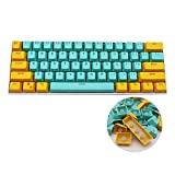 GTSP 61 PBT Keycaps 60 Percent, Ducky One 2 Mini Keycaps OEM Profile RGB Pudding Keycap Set with Key Puller for Cherry MX Switches GH60/RK61/Annie Pro 2/Poker Mechanical Gaming Keyboard (Sunshine)