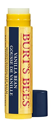 Burt's Bees 100% Natürlicher, feuchtigkeitsspendender Lippenbalsam mit Vanille - 1 Stift