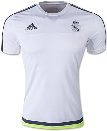 adidas Mens Real Madrid Replica FC Training Jersey White/Deepest Space/Solar Yellow S88957 Size X-Large