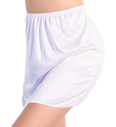 Demi-jupes femme jupon longueur environ 40 cm antistatique (Blanc)