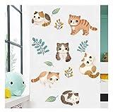 huayao Schöne Kitty Wandaufkleber Gemälde Für Babyzimmer Hintergrund Tapete Wohnzimmer Warmes Schlafzimmer Wand DIY Poster Art 95X83Cm