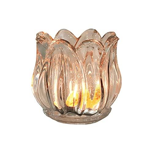 Lotus Crystal Candle Holder Cup Aroma Te Ljushållare Romantisk Matbord Stearinljus Hem Restaurang...