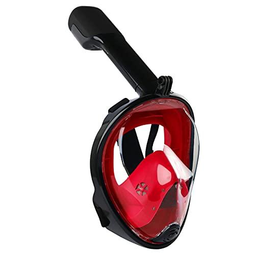 CHSDN Juego de esnórquel, máscara de Cara Completa para esnórquel Buceo Submarino Respirador Gafas Juego de esnórquel Máscaras respiratorias Seguro a Prueba de Agua