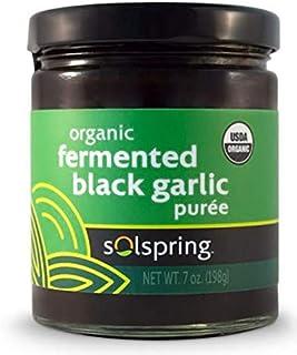 Dr. Mercola Solspring Organic Fermented Black Garlic Puree, About 33 Servings (7 oz.), Non GMO, Soy Free, Gluten Free, USDA Organic