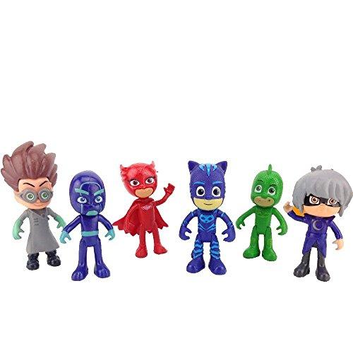PJ Masks Juguetes - PJ Masks Toys 6 Pcs Figures Popular Cartoon Figure Toys