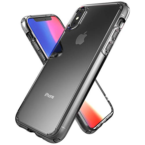 ZeroSkin Pantheon Clear iPhone Xs Case | iPhone X Case | Shockproof Protective Phone Cases | Hard Plastic PC Cover + Soft Silicone, Hybrid | Compatible with iPhone X 5.8-inch 2017 / Xs 5.8-inch 2018