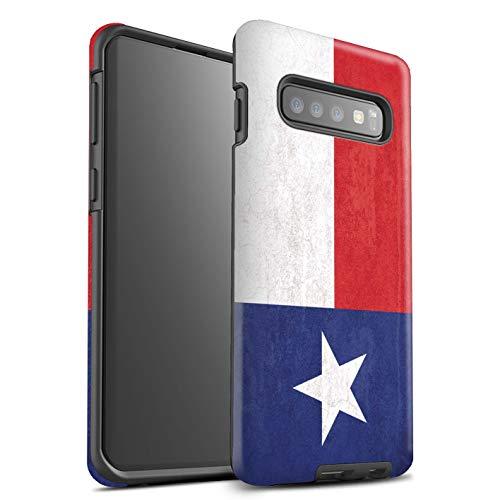 eSwish beschermhoes, mat, robuust, schokbestendig, voor Samsung Galaxy S10 Plus/Texas Design/antieke vlag American Collection