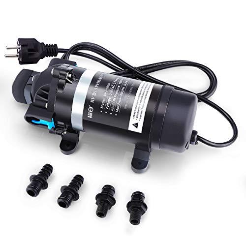 BACOENG AC220V pompa a membrana autodescante 7L/min 160PSI acqua ad alta pressione diaframma per camper/roulotte/barca/giardino