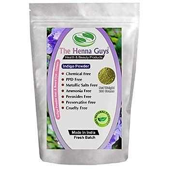 INDIGO POWDER For Hair Dye/Color - The Henna Guys  200g