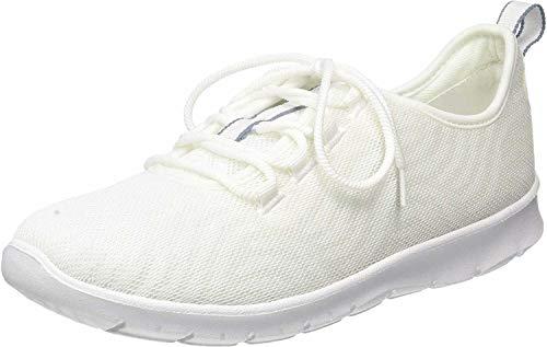 Clarks Step Allena Go, Zapatillas para Mujer, Beige (White White), 42 EU