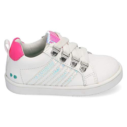 BunniesJR Puk Pit - Kinderschoenen Meisjes Maat 22 - Wit - Sneakers
