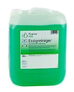 Hygiene VOS Limpiador Multisuperficies de Vinagre Ultra Potente de 10 litros. Elimina eficazmente la cal, manchas de agua y residuos de jabón en cocina y baño. 100% biodegradable