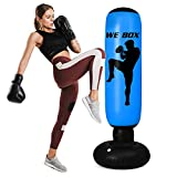 """Halloween 63"""" Inflatable Punching Bag with Stand,Freestanding Punching Bag for Karate,Taekwondo Home Boxing Practice with Immediate Bounce-Back to Release Stress in Kids and Adults Best Gift"""