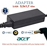 Caricatore Portatile Acer 19v 3.42A 65w | Alimentatore Universale PC Acer Caricabatterie | Caricabatteria Notebook | Alimentatori Cavo per Laptop Acer | Charger Acer Aspire Extensa TravelMate