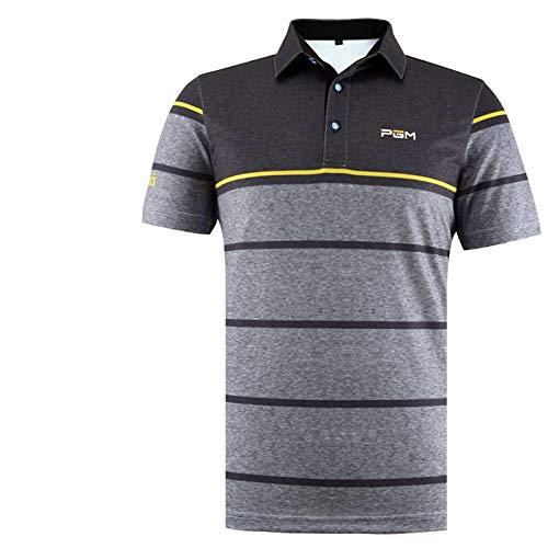 HCCX Men's golf shirt, super zweet drie minuten snel drogen, vierdimensionale elastische stof, zacht en comfortabel, lichtgewicht, golf professioneel spel poloshirt