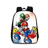 Mochila escolar de Super Mario Super Mario Cute Bookbags Set con lonchera Niños Mochilas escolares Mochila Adolescente Niños Niñas Kit Mochila Escolar Infantil