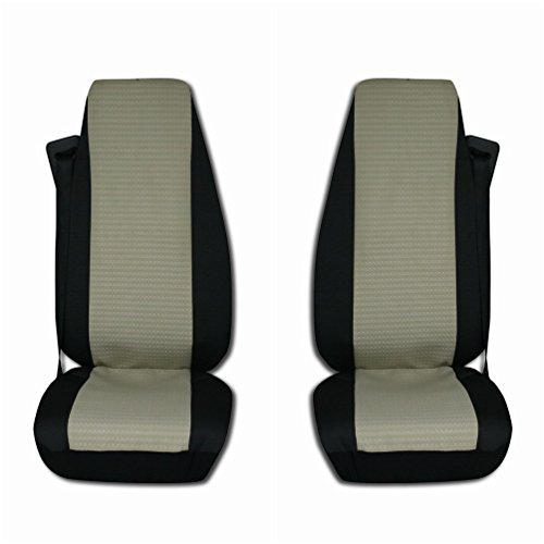 TEXMAR Texmart - Juego de 2 fundas de asiento para camión, color negro y beige