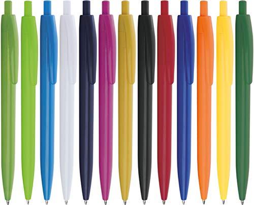 STAMPATEK Penne Personalizzate Personalizzabili Modello OBA con Stampa con il tuo Logo Nome o Slogan Gadget Promozionali 100 Pezzi con Stampa a 1 Colore