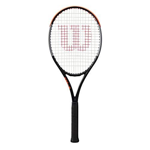 Wilson Racchetta da Tennis Burn 100 V4.0, per Giocatori Amatoriali Ambiziosi, Nero Grigio Arancione, WR044710U3